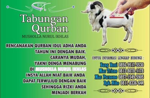 perikanan rohis spanduk qurban mushalla nurul ikhlas ps. minggu, maulid, isra, kegiatan, sekolah, yayasan, kantor mushalla masjid